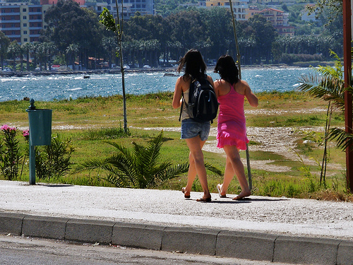 walking in Vlora, Albania