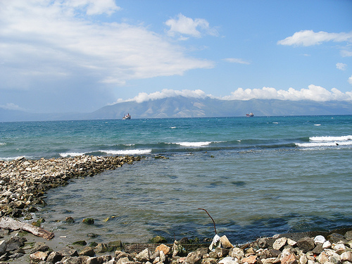 The seaside in Vlora, Albania