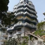 Building with particular/futuristic architecture in Saranda, Albania