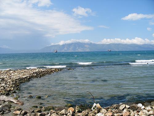 The seaside in Vlora, Albania
